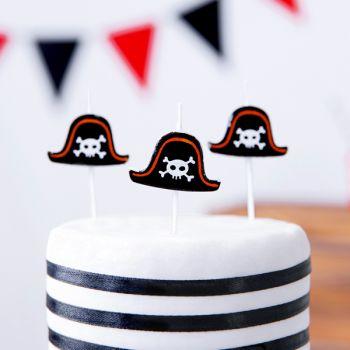 5 bougies pics chapeau Pirate