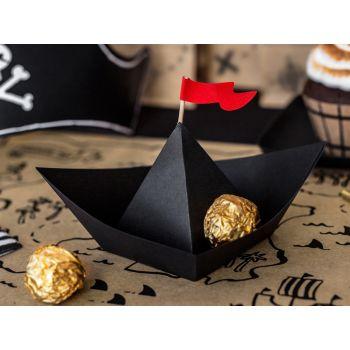 6 décors en carton bateau pirate