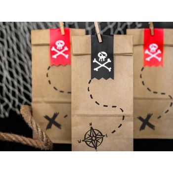6 sacs en kraft pirate