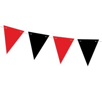 Guirlande fanions rouge et noir