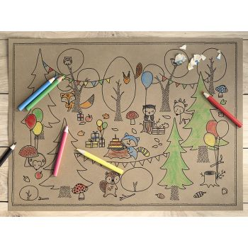 Kit 6 coloriages woodland