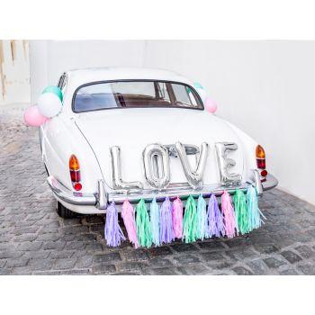 Kit décor voiture mariés mix Love