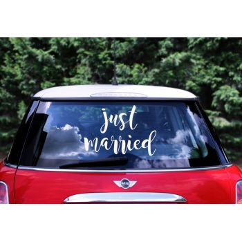 Stickers voiture mariés Just married