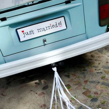 Plaque immatriculation Just married