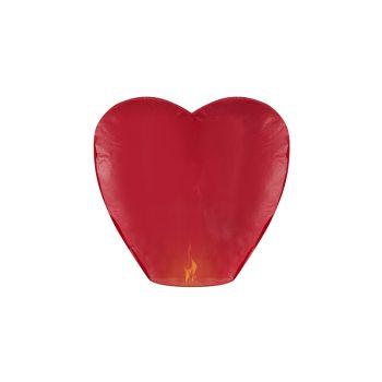 Lanterne volante à voeux coeur rouge
