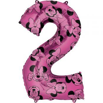 Ballon helium chiffre 2 Minnie