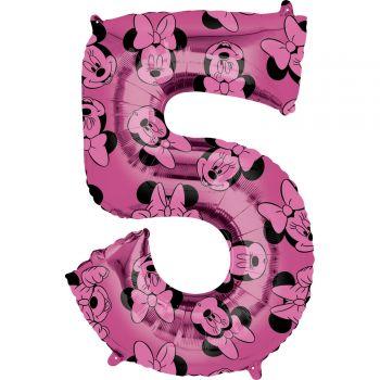 Ballon helium chiffre 5 Minnie