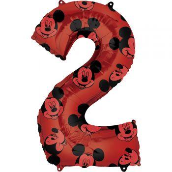 Ballon helium chiffre 2 Mickey