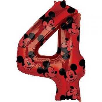 Ballon helium chiffre 4 Mickey