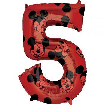 Ballon helium chiffre 5 Mickey