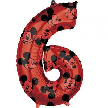 Ballon helium chiffre 6 Mickey