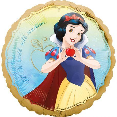 Superbe ballon helium rond à l'effigie de la princesse Blanche neige de Disney pour une super déco d'anniversaireA gonfler avec...