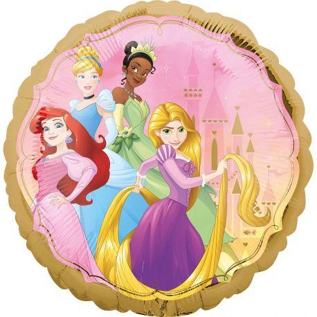 Superbe ballon helium rond à l'effigie des princesses Disney pour une super déco d'anniversaireA gonfler avec hélium pour qu'il...