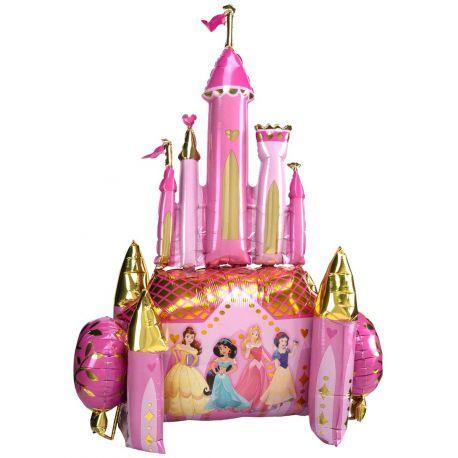 Ballons en aluminium géant appelé Airwalkers en forme de chateau de Princesses Disney.Le ballon fait la taille d'un enfant de 8 ans...