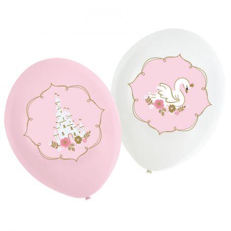 6 Ballons en latex à l'effigie de décor de princesse pour une belle décoration d'anniversaire douce et tendanceDimensions : Ø23cm