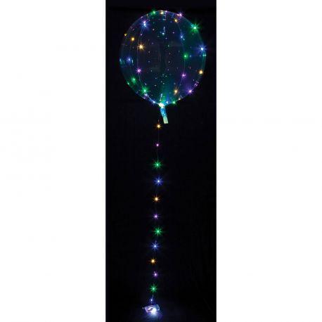 Superbe ballon lumineux ultra tendance transparent livré avec guirlande de led lumineuseA gonfler à l'hélium pour qu'il...