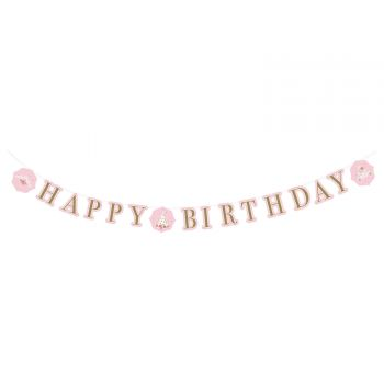 Banderole Happy Birthday princesses d'un jour