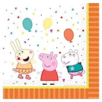 16 serviettes papier Peppa Pig