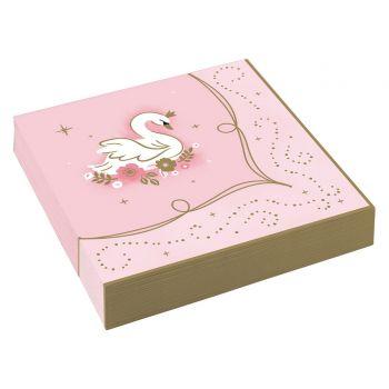 16 serviettes papier princesses d'un jour