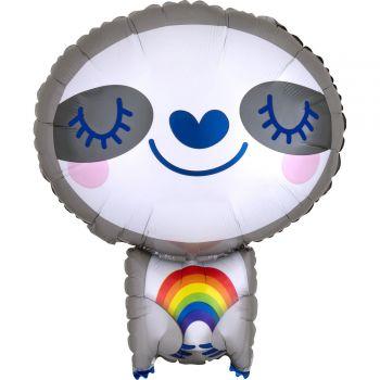 Ballon hélium paresseux arc en ciel