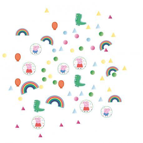Confettis métallisés à parsemer sur vos tables pour une belle décoration d'anniversaire sur le thème Peppa Pig14gr