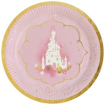 8 assiettes carton Princesse du jour