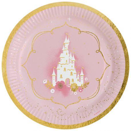 Assiettes rose 6 pièces princesse anniversaire slogan Fête Fête Deco Décoration