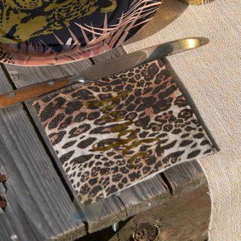 20 Serviettes léopard jungle gold