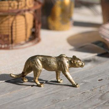 Figurine léopard doré 5cm