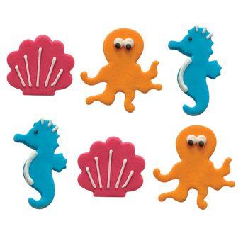 Mini figurines décors sucre océan