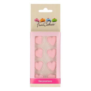 8 décors en sucre coeur rose Funcakes