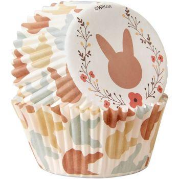 75 caissettes lapin Pâques Funcakes