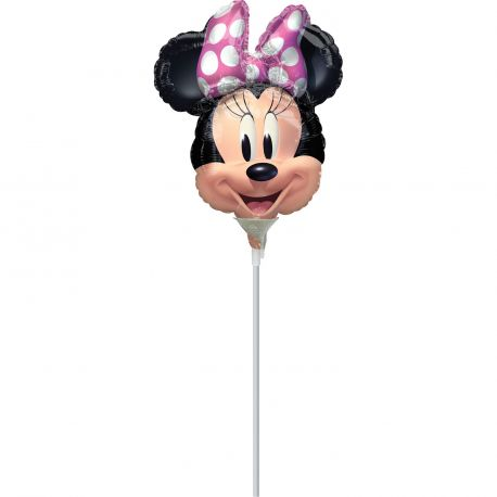 Ballon à main en aluminium Minnie idéal à offrir à chaque invité de l'anniversaire de votre fille.Le ballon est livré gonflé avec...