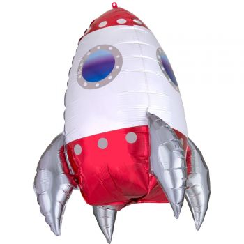 Ballon hélium géant fusée 73cm