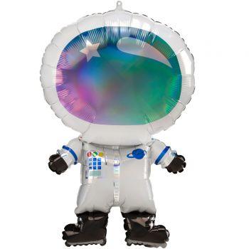 Ballon hélium géant cosmonaute 76cm