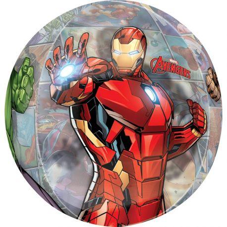 Superbe ballon rond à l'effigie des héros de Avengers pour une super déco d'anniversaireA gonfler avec hélium pour qu'il flotte ou...