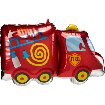Ballon hélium camion pompier 76cm