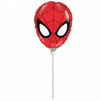 Mini Ballon tête Spiderman gonflé