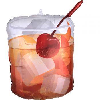 Ballon hélium cocktail Old fashioned 58cm