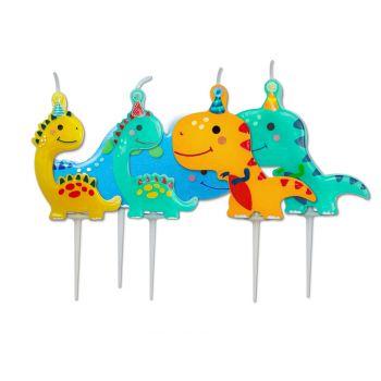 5 Bougies pics dinosaure