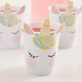8 gobelets tête de Licorne
