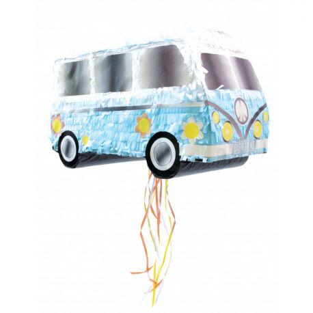 Une piñata en forme de combi van , à remplir de confettis, petits jouets et bonbons pour animer un anniversaire ou un goûter.2...