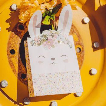 6 cabas cadeaux lapin liberty