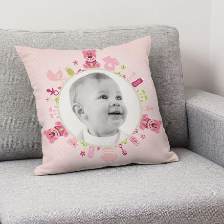 DECO Coussin Licorne Coeur Design Pink Fée Cadeau Fille 40 x 40 cm