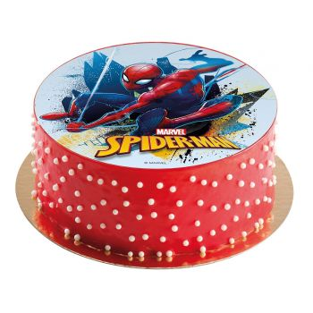 Disque azyme Spiderman sans sucre 16cm
