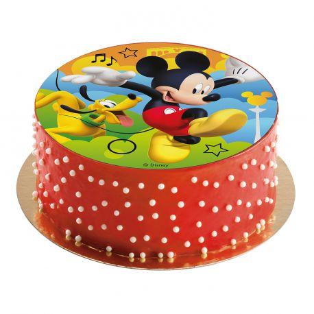Disque comestible spécialement conçu pour réaliser un magnifique gâteau sur le thème Mickey en 1 clin d'oeil !Il suffit de le poser...