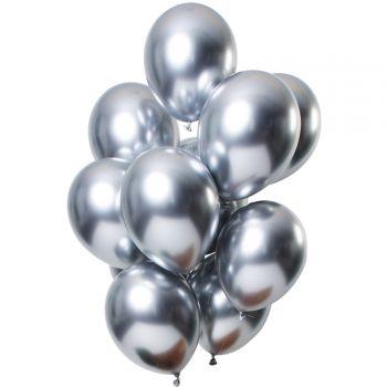 Bouquet 12 ballons effet metal