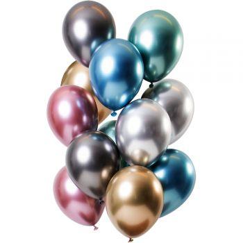 Bouquet 12 ballons effet metal trésor