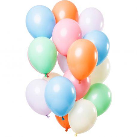 Bouquet de 12 ballons latex de couleur tons pastelDimension des ballons Ø30cm