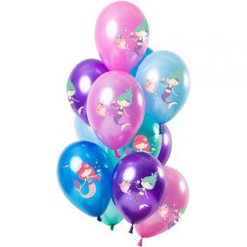 Bouquet 12 ballons métallisés sirène